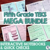 5th Grade TEKS Interactive Notebook Activities & Quick Che