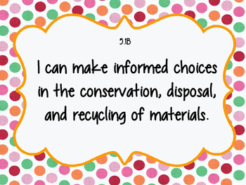 """5th Grade Science TEKS """"I can"""" Statement Posters"""