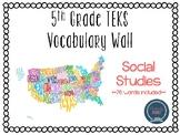 5th Grade TEKS Social Studies Word Wall