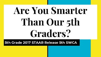 5th Grade TEXAS Science STAAR Vertical Alignment