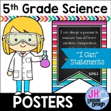 """Tennessee Science Standards 5th Grade: """"I Can"""" Posters"""