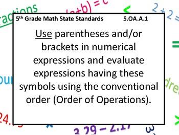 5th Grade TNCORE Math Standards