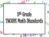 5th Grade TNCORE Math Standards