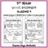 5th Grade TNReady/CCS Daily Spiral Bellringer Review Quarter 4