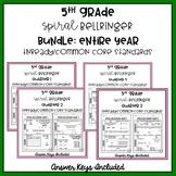 5th Grade TNReady/CCS Spiral Bellringer Review ENTIRE YEAR Bundle