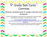 5th Grade Task Cards - Commas  **EDITABLE**