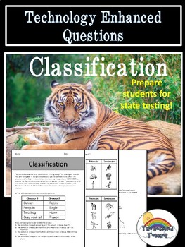 5th Grade Technology Enhanced Items (TEI)  Classification Test Prep/ Review