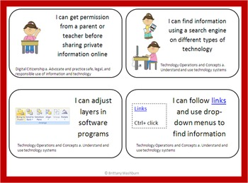 Fifth Grade Technology I Can Statements- Skill Building