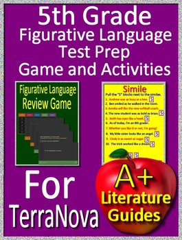 5th Grade TerraNova Test Prep - Figurative Language Game and Google Activities