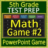 5th Grade Test Prep Math Game #2 Spiral Review CCSS Smarter Balanced