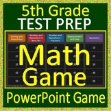 5th Grade Test Prep Math Game Spiral Review CCSS Smarter Balanced