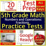 5th Grade Math Unit 3: Numbers and Operations Fractions Standardized Test Prep