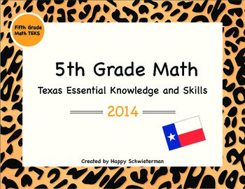 5th Grade Texas Essential Knowledge and Skills (TEKS)