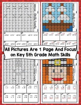 5th Grade Thanksgiving Math: 5th Grade Math Mystery Pictures