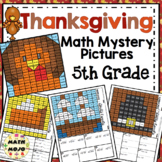 5th Grade Thanksgiving Math Mystery Pictures: Math Color B