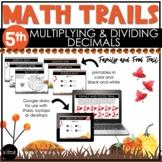 5th Grade Thanksgiving Math Scavenger Hunt   Multiplying &
