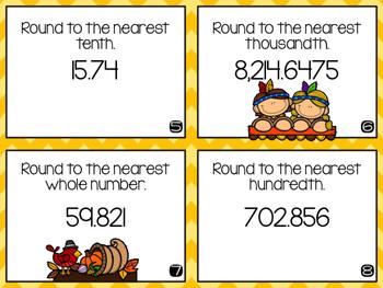5th Grade Thanksgiving Math Scoot!