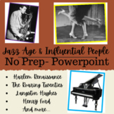 5th Grade The Jazz Age & Influential people - Powerpoint