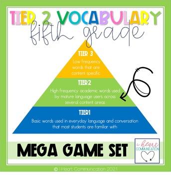5th Grade Tier Two Vocabulary Mega Game Set