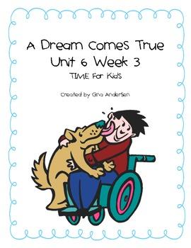 """5th Grade Treasures Reading Unit 6 Week 3 """"A Dream Comes True"""""""