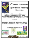 5th Grade Treasures Series Open-Ended Questions