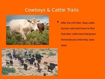 5th Grade -Turn of the Century | Cowboys and Cattle Trails