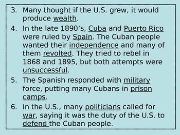 5th Grade Turn of the Century Part 2 - Spanish-American ...