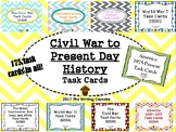 Civil War to Present Day Task Cards Bundle (GMAS)