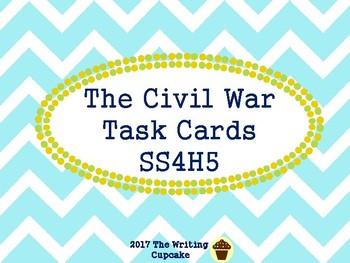 Civil War to Present Day Task Cards Bundle (GMAS)