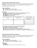 5th Grade Understanding Supporting Evidence 1 Page Notes