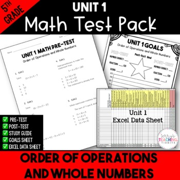 5th Grade Unit 1 Math Test Pack {Paper and Pencil}