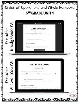 5th Grade Unit 1 Math Test Pack {Paperless}