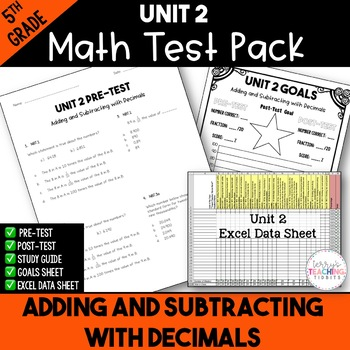 5th Grade Unit 2 Math Test Pack {Paper and Pencil}