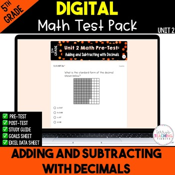 5th Grade Unit 2 Math Test Pack {Paperless}