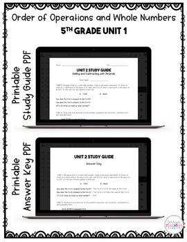 5th Grade Unit 2 Math Test Pack {Paperless}