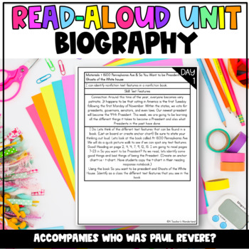 5th Grade- Unit 4 Nonfiction- Interactive Read Alouds, Mini-Lessons and Crafts