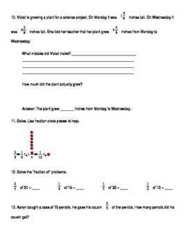 5th Grade Unit 3 Study Guide for Everyday Math 4