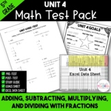 Fractions Printable Test Pack - 5th Grade Unit 4