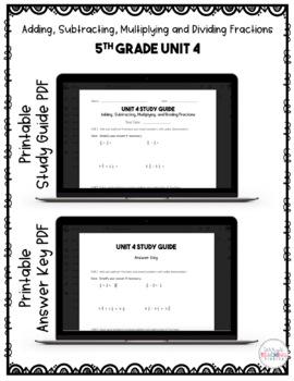 5th Grade Unit 4 Math Test Pack {Paperless}