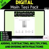 Fractions Digital Test Pack {5th Grade Unit 4} - Distance
