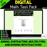 Fractions Digital Test Pack {5th Grade Unit 4} - Distance