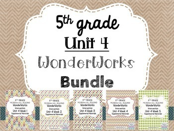 5th Grade Unit 4 WonderWorks Supplement- BUNDLE!!!