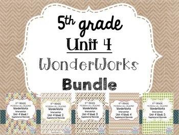 5th Grade Unit 4 WonderWorks Supplement- BUNDLE!!!