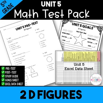 5th Grade Unit 5 Math Test Pack {Paper and Pencil}