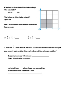 5th Grade Unit 5 Study Guide for Everyday Math 4
