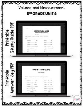 5th Grade Unit 6 Math Test Pack {Paperless}