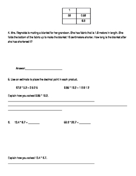 5th Grade Unit 6 Study Guide for Everyday Math 4