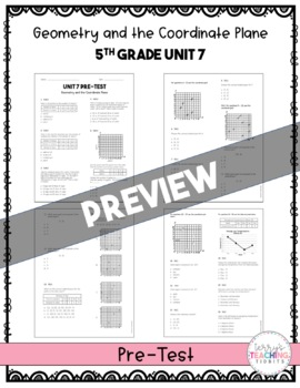 5th Grade Unit 7 Math Test Pack {Paper and Pencil}