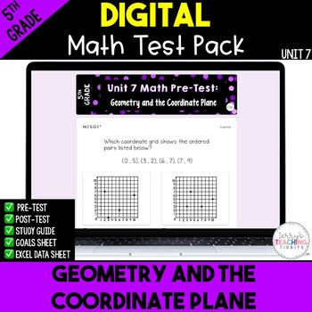 5th Grade Unit 7 Math Test Pack {Paperless}