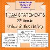 5th Grade United States History I CAN Statements